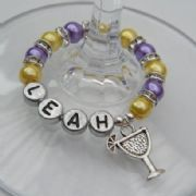Cocktail Glass Personalised Wine Glass Charm - Full Sparkle Style